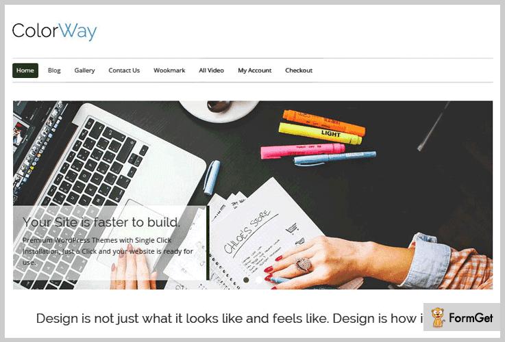 ColorWay Flat Design WordPress Theme