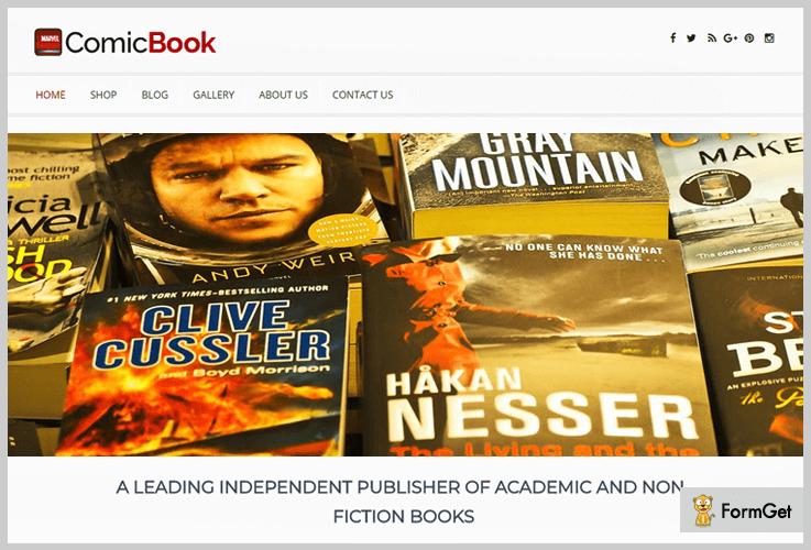 Comic Book Author WordPress Theme