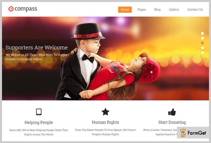 Compass Flat Design WordPress Theme