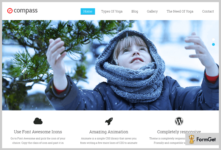 Compass Simple WordPress Theme