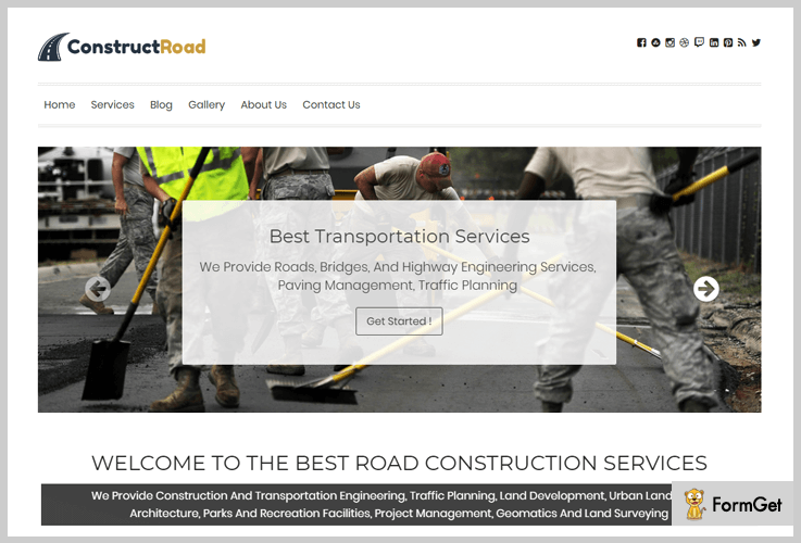 ConstructRoad Contractor WordPress Theme