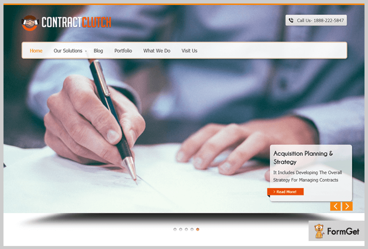 ContractClutch Contractor WordPress Theme