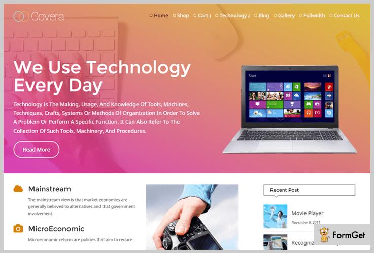 Covera Freelancer WordPress Theme