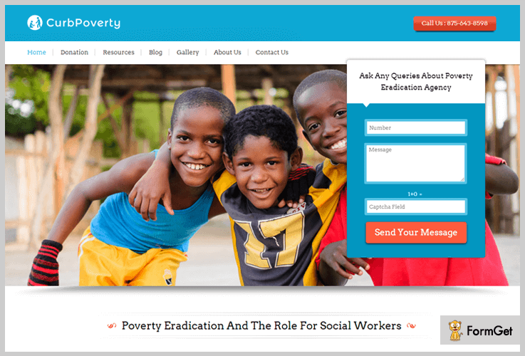 curb poverty nonprofit wordpress themes