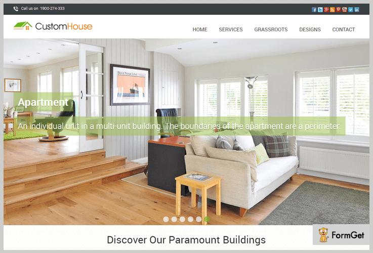 CustomHouse Construction WordPress Theme