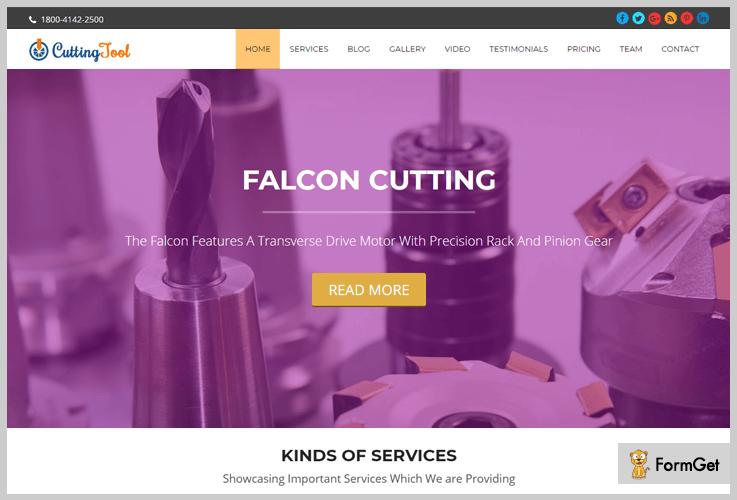 Cutting Tool Machinery WordPress Theme