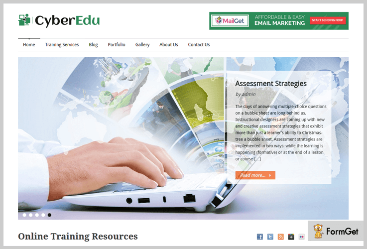 CyberEdu E-learning WordPress Themes