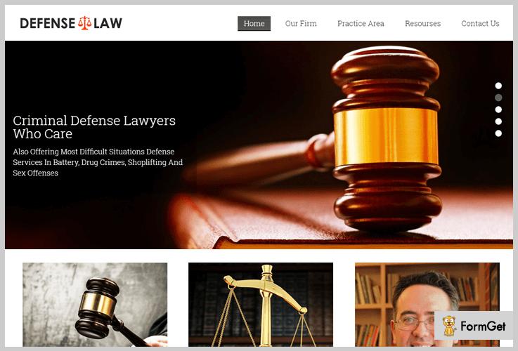Defense Law WordPress theme