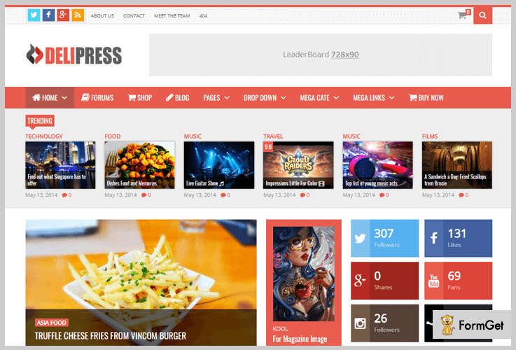 DeliPress Reviews WordPress Theme