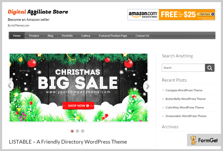 DigitalAffiliateStore Most Popular WordPress Theme