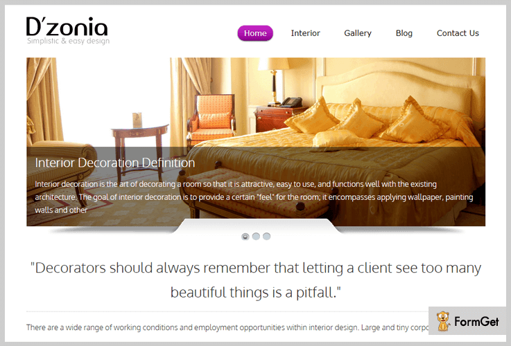 Dzonia Mobile Responsive WordPress Theme