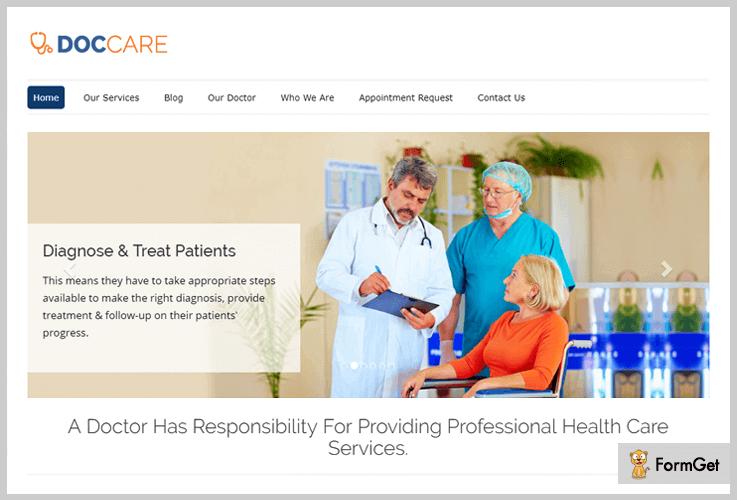 DocCare Doctor WordPress Theme