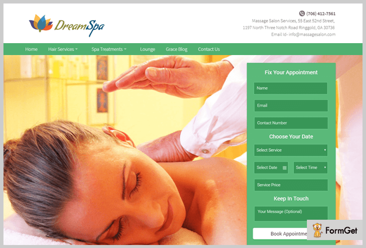 DreamSPA Spa WordPress Themes