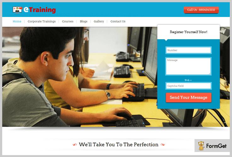 E-Training WordPress Theme For Training Courses