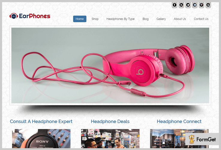 Ear Phone Digital Product Selling WordPress Theme