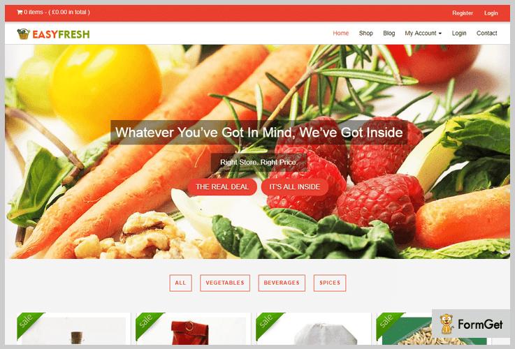Easy Fresh Grocery Store WordPress Theme