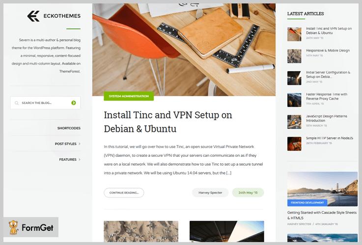 Severn Three Column WordPress Theme