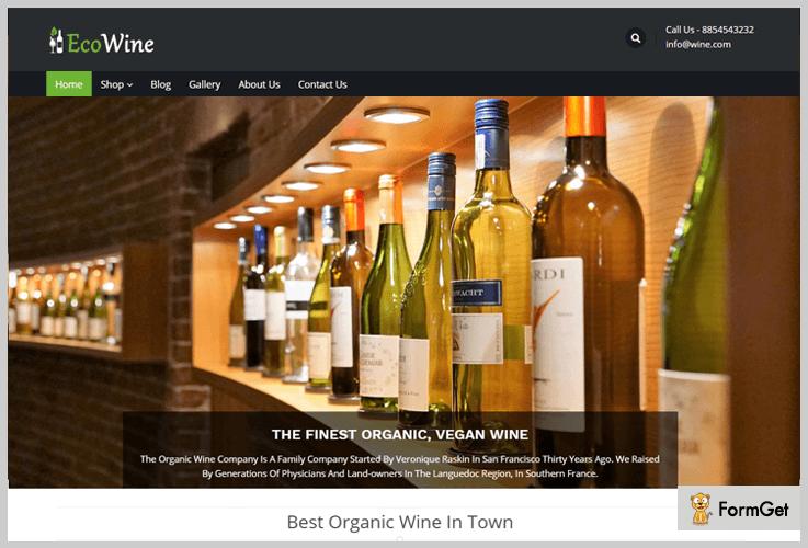 EcoWine Wine WordPress Themes