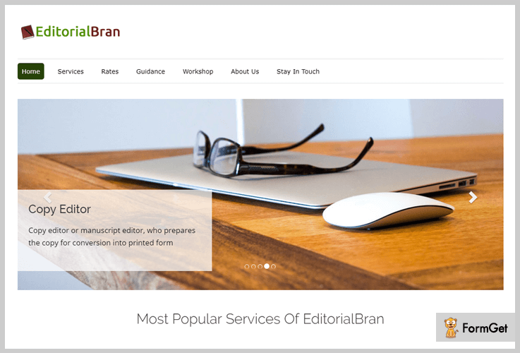 EditorialBran Writer WordPress Theme