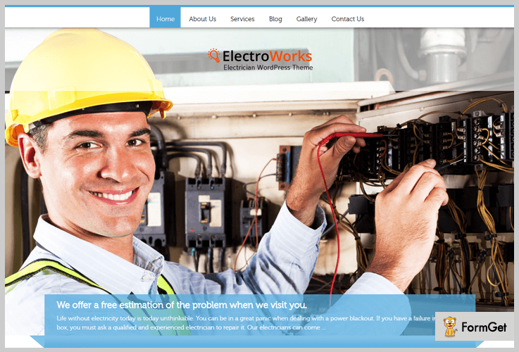 electro-works WordPress Themes For Electricians