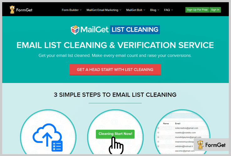 MailGet Email List Cleaning