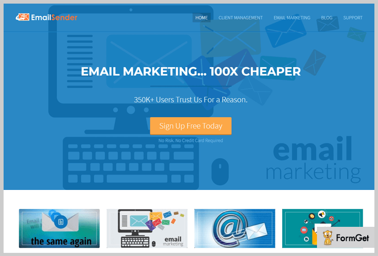 EmailSender Content Marketing WordPress Themes