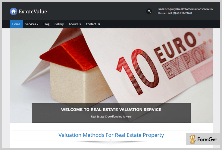 EstateValue Real Estate WordPress Theme