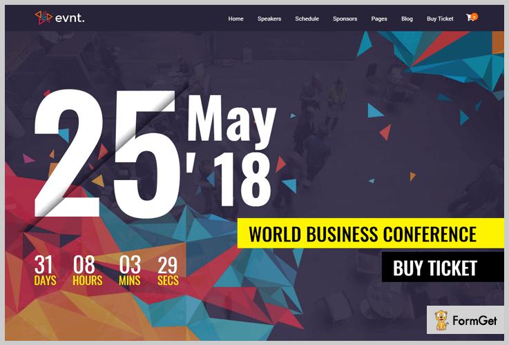 Evont Conference WordPress Theme