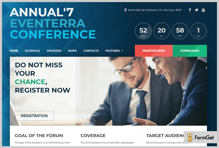 Eventerra Conference WordPress Themes