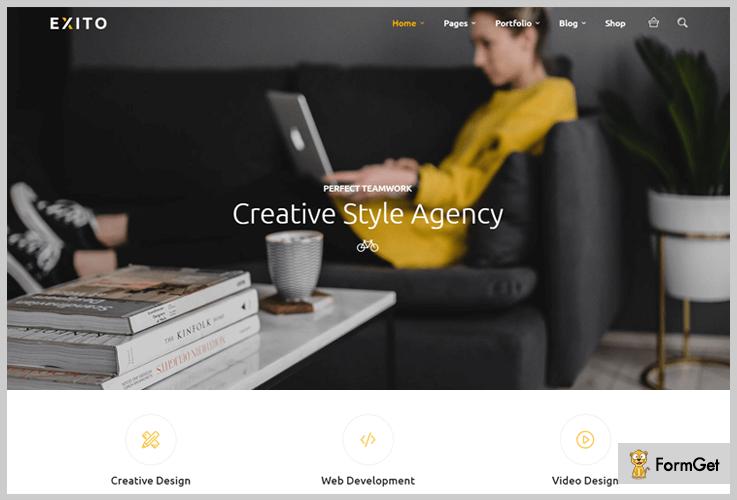 Exito Dark WordPress Themes