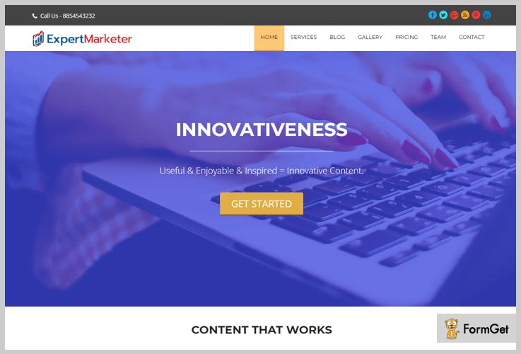 Expert Marketer Content Marketing WordPress Themes