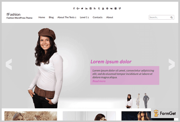fFashion Model Agency WordPress Theme