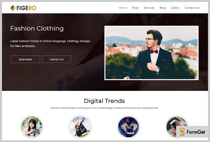 Figero Parallax WordPress Theme