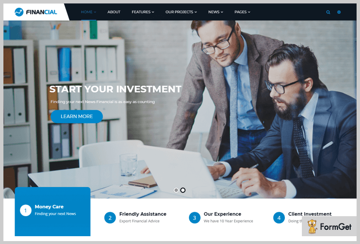 Financial WordPress Themes Stock Market