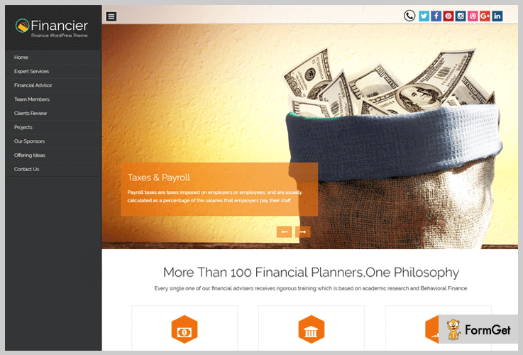 Financier Financial WordPress Theme