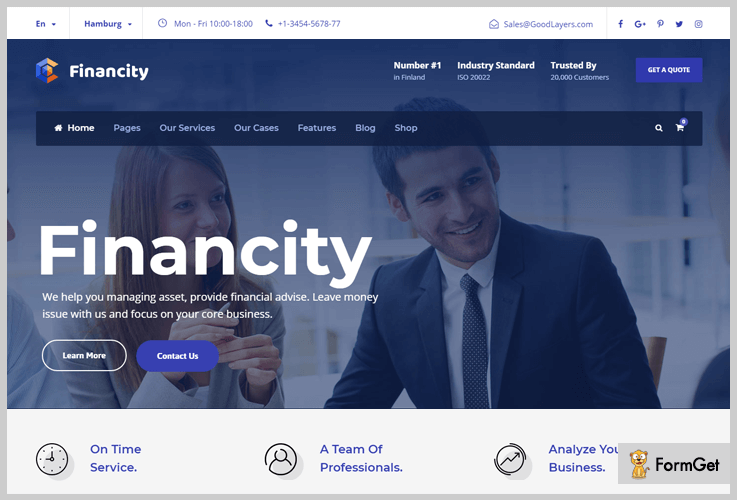 Financity WordPress Themes Stock Market