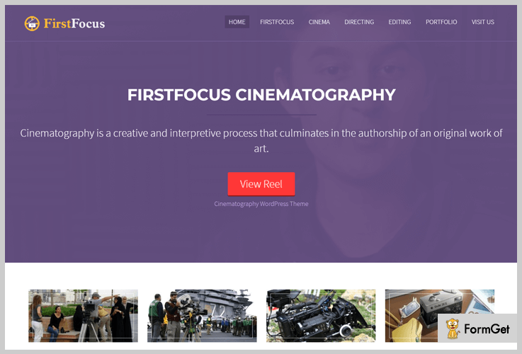 First Focus Filmmaker WordPress Theme