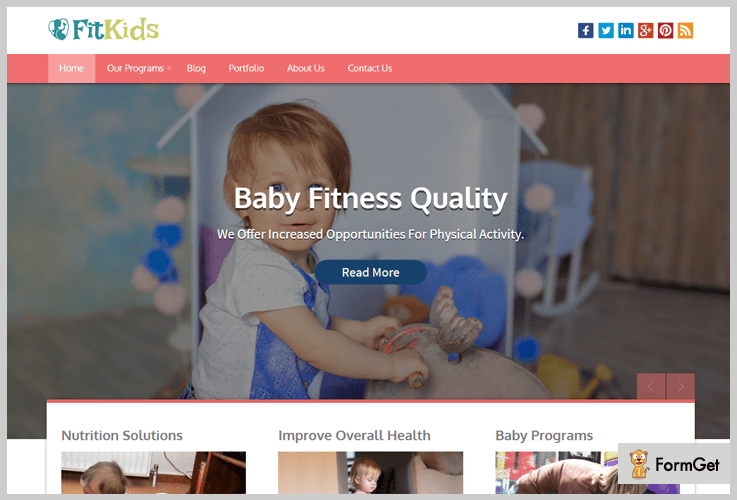FitKids Fitness WordPress Theme