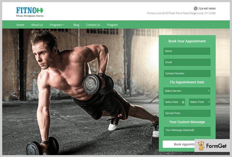 Fitno Gym WordPress Themes