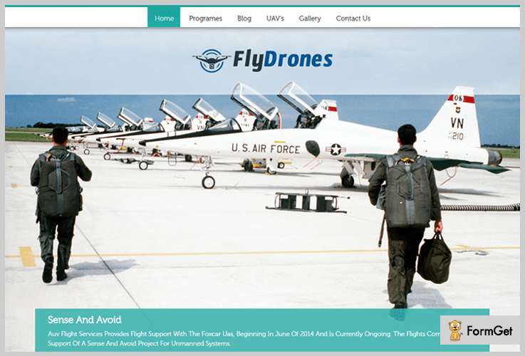 FlyDrones WordPress Theme For Training Courses