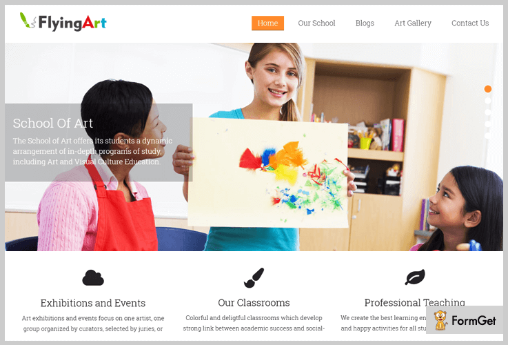 Flying Art School WordPress Theme