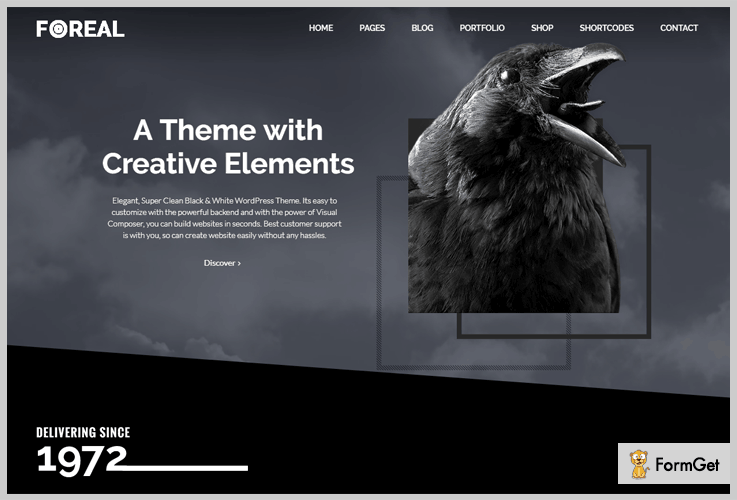 Foreal WordPress Themes Black and White