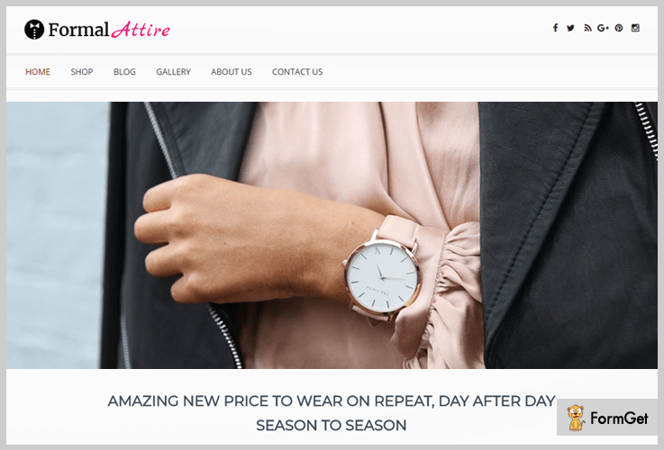 Formal Attire WordPress Theme For Clothing Store