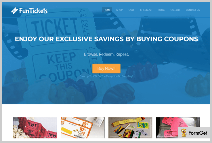 Fun Tickets Coupon WordPress Theme