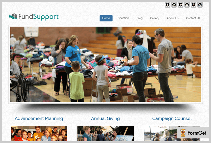 Fund Support WordPress Theme