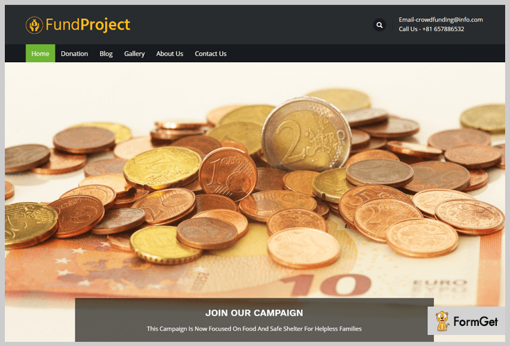 FundProject WordPress Theme