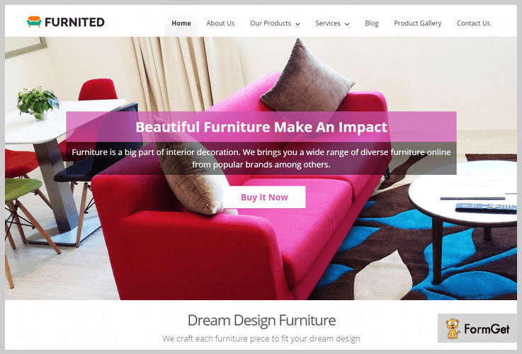 Furnited: Furniture WordPress Theme