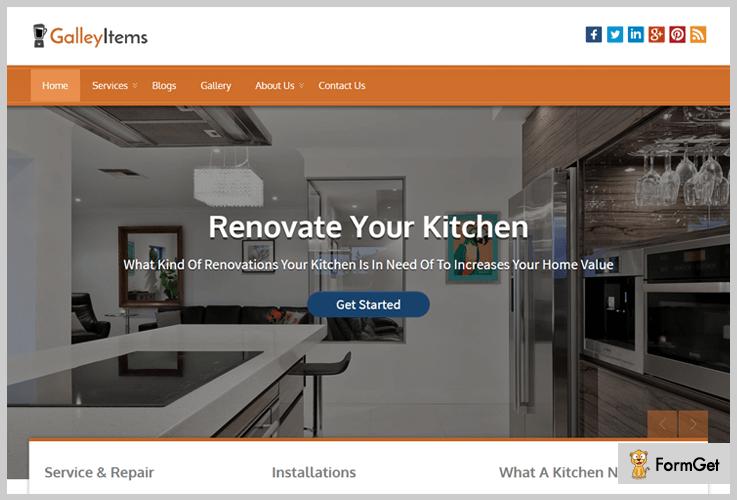 Gallery Items Kitchen WordPress Theme