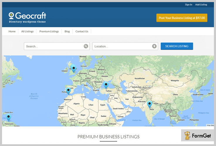 GeoCraft Classified WordPress Theme