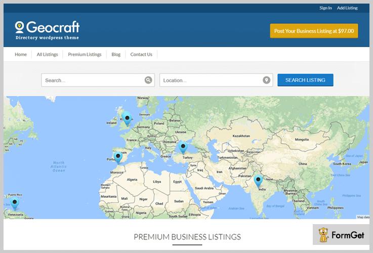 GeoCraft Classified WordPress Theme